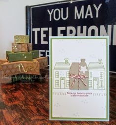 Stampin' Up UK Demonstrator Sarah-Jane Rae Cards and a Cuppa blog: Holiday Home by Stampin' up! Christmas Card.