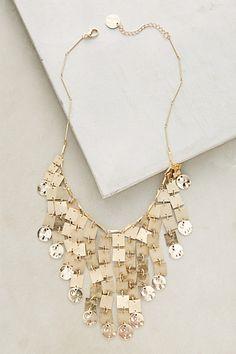 Gilded Cascade Bib Necklace #anthropologie