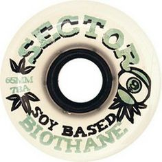 Sector 9 Wheels Skateboard Wheels Sector 9 Skateboards Biothane 78a 61mm Clear.white Soy Compound Skate Wheels  #skateboarding