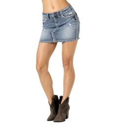 Mid Rise Mini Skirt.  Great stretch for extra comfort and fit. $79.95 Denim Shorts, Mini Skirts, Fitness, Silver, Men, Fashion, Moda, Money, La Mode