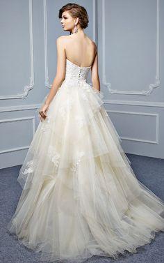 Featured Dress: Enzoani; Wedding dress idea.