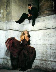 Michaela Bercu ( ) By Steven Meisel for BlumarineFall/Winter Michaela Bercu, Steven Meisel, Twiggy, 1990s, Supermodels, High Fashion, Ballet Skirt, Vogue, Photography