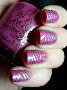 Striped nail design