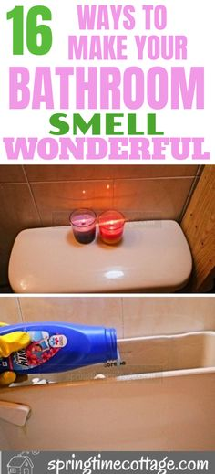 Here are some good cleaning tips, and home hacks to use to make your bathroom smell awesome! tips for home hacks 16 Wonderful Bathroom Smell Hacks for the home lover