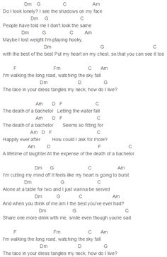 death of a bachelor chords panic at the disco