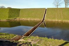 Moses Bridge: sunken Bridge designed by Ro & AD Architects from the Netherlands