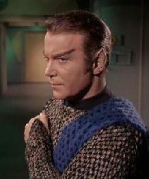 Star Trek - Kirk posing as a Romulan.  Very illogical, Captain.                             http://buyactionfiguresnow.com