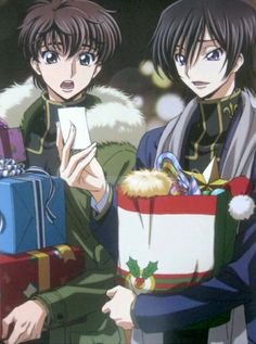 lelouch: no one ever uploaded a scan for this so im just putting this here because theyre on a date! christmas is magical