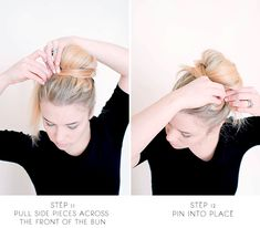 sitting in our tree: DIY - messy bun for long hair Bun Hairstyles For Long Hair, Work Hairstyles, Hair Dos, Pretty Hairstyles, Formal Hairstyles, Very Long Hair, Good Hair Day, Beach Hair, Professional Hairstyles