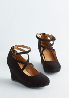 Fabled Sable Wedge in Black, #ModCloth