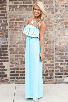 Strapless Crochet Vintage Maxi | uoionline.com: Women's Clothing Boutique