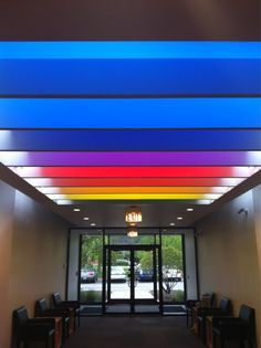 The lobby at The Land of Nod Corporate Office.