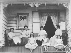 Taken in 1908, this photo gives us a great glimpse at a bygone era - take a look at the outfits 👗 that women and girls would have worn and the architectural decoration of the cottage 🏠 .  What jumps out at you in this photo? 🤗  And just for the record - this photo shows the ladies and children of the Evans family sitting on the verandah outside a cottage on Howick Beach. 📸  #howickhistoricalvillage #openairmuseum #livingmuseum #nzheritage #howick The Outsiders, Museum, Cottage, Architecture, Dream Homes, Children, Beach, Evans, Decoration