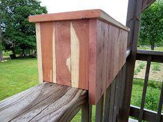 Railing Flower Planter - Handmade - All Natural Aromatic Red Cedar  -Ozark Rustic Wood on Etsy