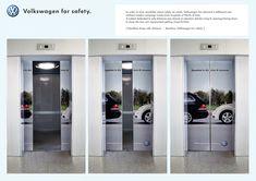 Volkswagen for safety - Elevator advertising