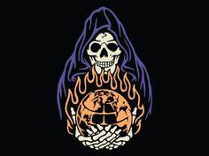 Burn It Down designed by Stead Supply. Doodle Tattoo, Tattoo Drawings, Art Drawings, Ink Tattoos, Skull Art, Graphic Design Inspiration, Vector Art, Cool Art, Illustration Art