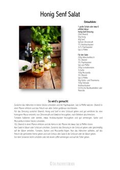 Honig Senf Salat im Glas - Honey Mustard Salad in a jar - Honey Mustard Dressing | Das Knusperstübchen