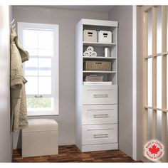 Bestar - Boutique White 63.5 cm (25 in.) Storage unit with drawers