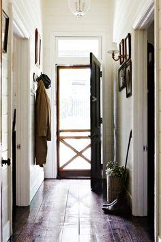 Wood PLANK Floors  Screen door (mudroom entry) Patterson Maker