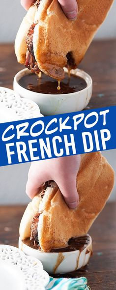 slowcooker frenchdip crockpot easiest french recipe crock ever pot dip the Crock Pot French Dip The EASIEST French dip recipe everYou can find Crock pot recipes and more on our website Crock Pot Dips, Crockpot Dishes, Crockpot Meat, Slow Cooker Recipes, Beef Recipes, Cooking Recipes, Top Recipes, Easiest Crockpot Recipes, Crock Pot Recipes
