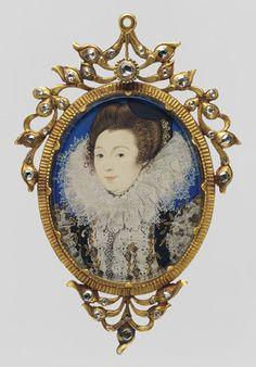 Nicholas Hilliard, Portrait of a Woman 1597
