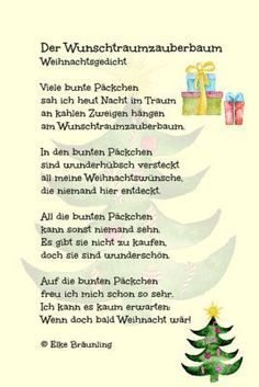 The dream dream tree * Elkes children's stories Different Sentences, Christmas Time, Merry Christmas, Kindergarten Portfolio, Xmax, Daily Health Tips, German Language, Teaching, Cards