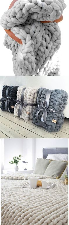 Fall/Winter Chunky Blankets For Home 2019 P&D MODEBERATUNG blankets dark grey chunky blankets grey white blankets to kits The post Fall/Winter Chunky Blankets For Home 2019 appeared first on Wool Diy. Make Blanket, Chunky Blanket, Chunky Knit Throw, Chunky Knits, Chunky Wool, Wool Blanket, My New Room, My Room, Decoration Bedroom