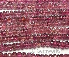 Women Jewelry: 7 Pink Tourmaline 4Mm Faceted Rondelle Beads Aa+ Natural L4 -> BUY IT NOW ONLY: $38.5 on eBay!