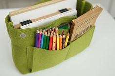 Felt Purse Organizer. I don't carry a large purse, but this would work great in my briefcase.