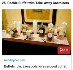 Cookie Buffet- this set up is nice and simple