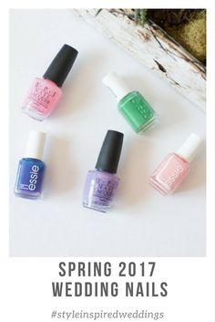 Looking for the perfect spring wedding day nail color? Well we have got five super pretty colors for spring. Wedding 2017, Purple Wedding, Spring Wedding, Wedding Day, Essie Spring 2017, Peach Colors, Color Pallets, Wedding Nails, Special Day