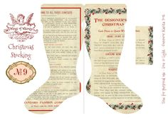 Wings of Whimsy: Vintage Christmas Stocking No 9 - there are 25 different stockings