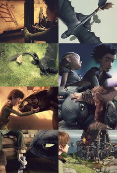Hiccup and Toothless with Astrid.