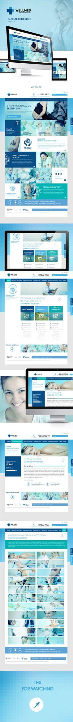 Wellmed - Centrum Medyczne by Tomasz Trefler, via Behance #medical #website #design: