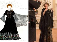 """Consolata Boyle for 'Florence Foster Jenkins,' 2017 - Along with """"Florence Foster Jenkins,"""" Boyle has also designed costumes for other hit films like """"Miss Julie,"""" """"Into the West"""" and """"The Iron Lady. Costume Design Sketch, Best Costume Design, Sandy Powell, The Iron Lady, Oscars 2017, Into The West, Fashion Portfolio, Foster Jenkins, Glitz And Glam"""