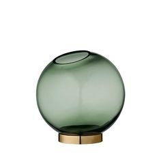 Globe rund vase, mellem, skovgrøn, AYTM,