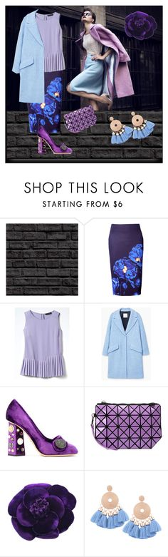 """Violet & Lilac Look"" by yaschy ❤ liked on Polyvore featuring WithChic, Banana Republic, MANGO, Dolce&Gabbana, Chanel, Blue, violet and lilac"