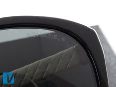 New Chanel sunglasses feature a small Chanel logo etched into the left lens. Check that the etching is clean and clear.