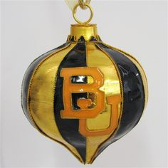#Baylor University Balloon Shaped Cloisonne Ornament