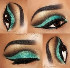 GREEN STAGE MAKEUP