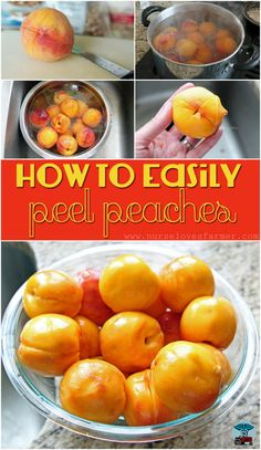 Kitchen Hack! How To Easily Peel Peaches. Put away that vegetable peeler and find out how to easily peel peaches. Great for large batches when making pies and preserves!