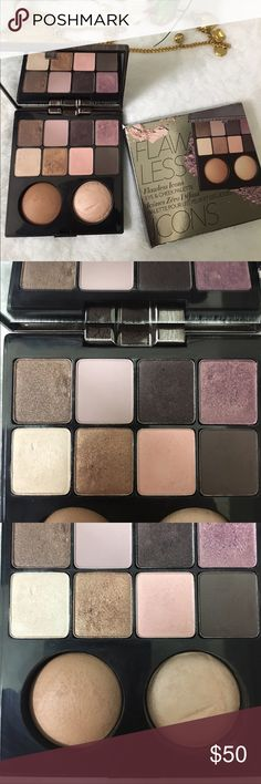 🌸✨Laura mercier limited edition iconics palette✨ New Laura mercier Nordys limited iconic palette featuring Laura's top selling baked highlight and bronzer ! With there too selling eyeshadow colors . All in one cute palette . Only swatched one or two and I scratched the highlight while taking a picture '😕. Comes with box and highend samples ! Make offer Sephora Makeup