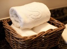 Basket of hand towels