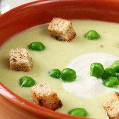 Sopa de Ervilha - Quentinha e nutritiva a sopa de ervilha é uma unanimidade nas épocas... Costumo preparar sopa de ervilha em pacote e ja acho bom - imagin...