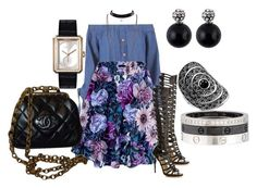 """event"" by niktherese ❤ liked on Polyvore featuring Paul Andrew, Chanel, Thomas Sabo and Cartier"