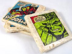 Hey, I found this really awesome Etsy listing at http://www.etsy.com/listing/128146764/marvel-superhero-comic-book-coaster-set