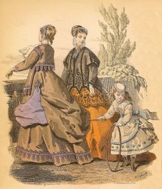 French Fall Fashions for October 1867