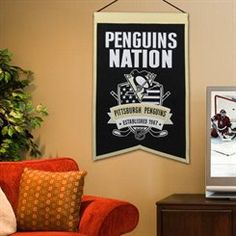 Pittsburgh Penguins 15'' x 20'' Nations Banners - Black