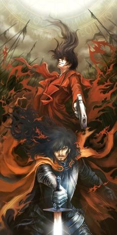 The No Life King --- Long may he reign --- With many faces --- In many places --- Kingdoms will kneel. Alucard of Hellsing