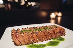 """The """"Everything"""" Crusted Yellowfin Tuna, Scallion Vinaigrette- Deity Catering – Deity Events"""